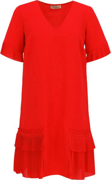 Sukienka Twinset mini z dekoltem w kształcie litery v w stylu casual