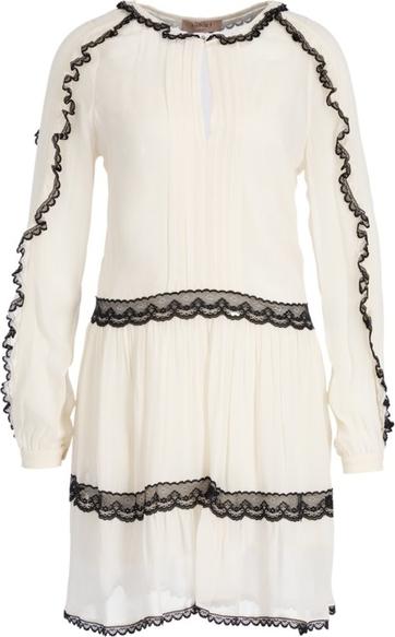 Sukienka Twinset z długim rękawem w stylu casual z okrągłym dekoltem