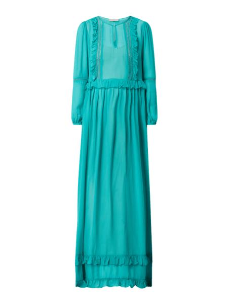 Sukienka Twinset z długim rękawem z szyfonu maxi