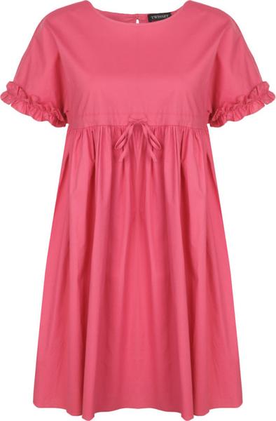 Sukienka Twinset z krótkim rękawem z okrągłym dekoltem