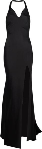 Sukienka Twinset z tkaniny maxi z dekoltem w kształcie litery v