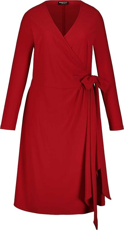 Sukienka Ulla Popken mini z dekoltem w kształcie litery v