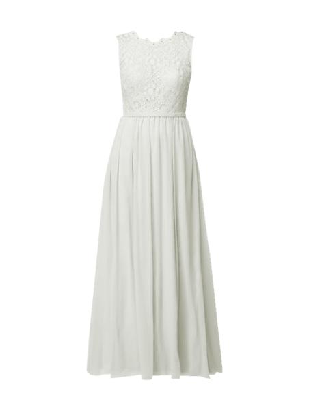 Sukienka Unique z okrągłym dekoltem w stylu glamour z szyfonu