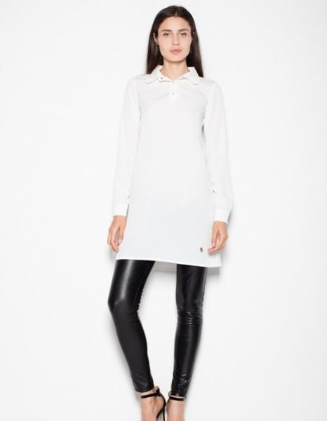 Sukienka Venaton koszulowa mini z długim rękawem