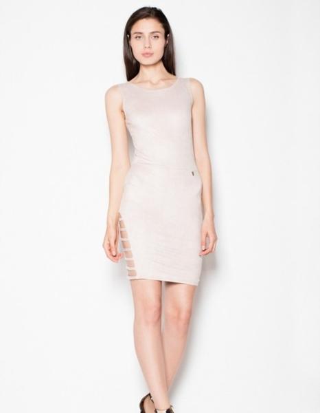 Sukienka Venaton z okrągłym dekoltem mini