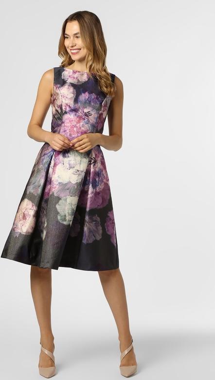 Sukienka Vera Mont Collection z okrągłym dekoltem midi rozkloszowana