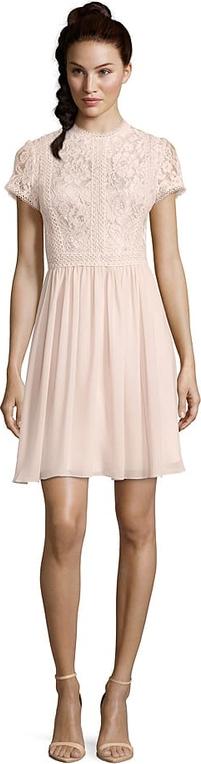 Sukienka Vera Mont mini z krótkim rękawem z okrągłym dekoltem