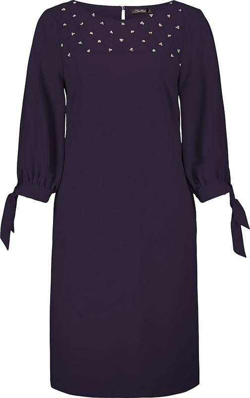 Sukienka Vera Mont prosta z okrągłym dekoltem