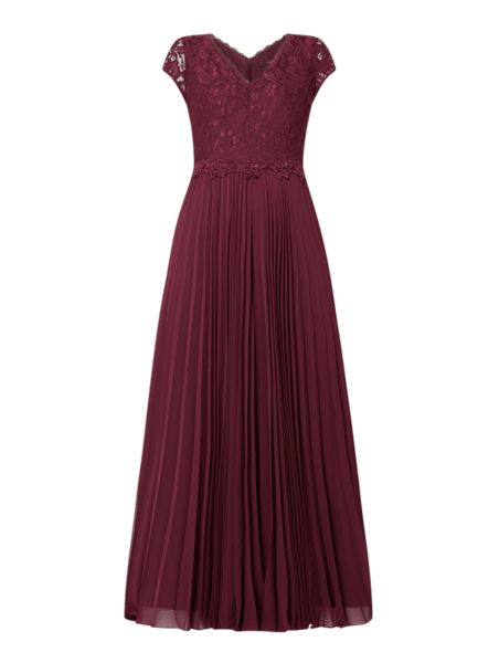 Sukienka Vera Mont z krótkim rękawem maxi z dekoltem w kształcie litery v
