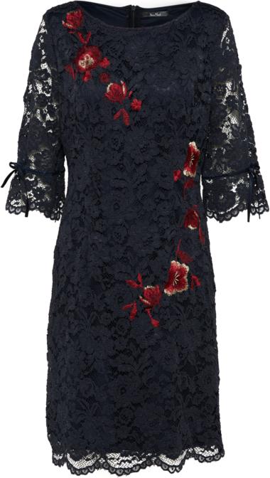 Sukienka Vera Mont z krótkim rękawem z okrągłym dekoltem midi