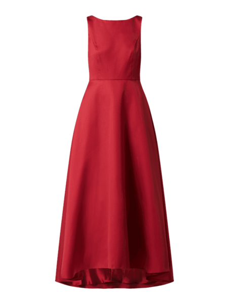 Sukienka Vera Mont z satyny bez rękawów maxi