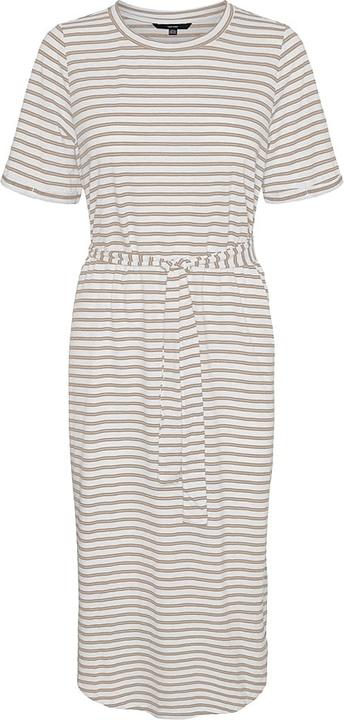 Sukienka Vero Moda z okrągłym dekoltem z krótkim rękawem