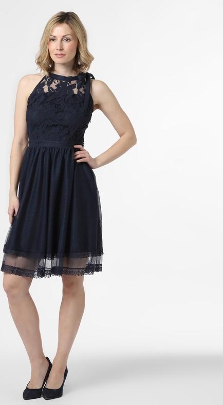 Sukienka Vila bez rękawów rozkloszowana z tiulu