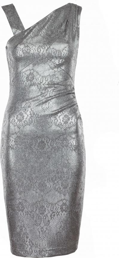 Sukienka VISSAVI dopasowana z dzianiny