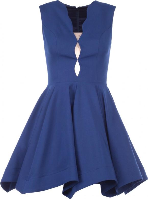 Sukienka VISSAVI rozkloszowana mini bez rękawów
