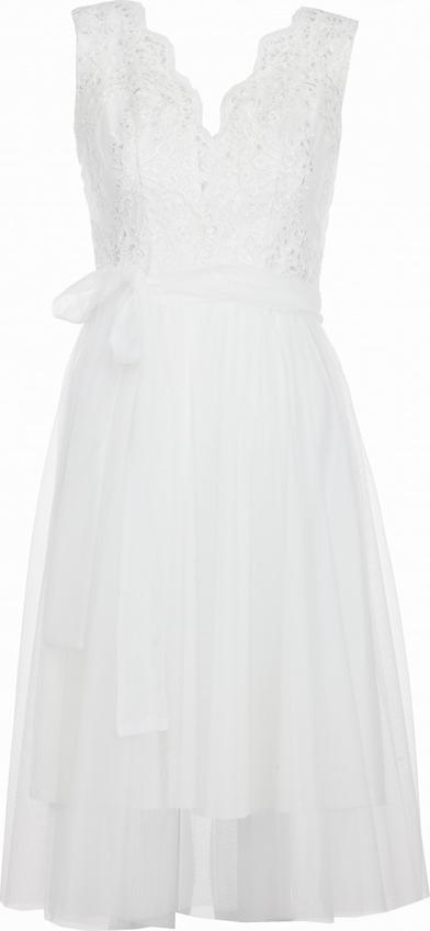 Sukienka VISSAVI trapezowa z dekoltem w kształcie litery v