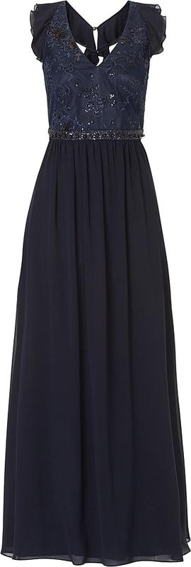 Sukienka Vm By Vera Mont z dekoltem w kształcie litery v maxi bez rękawów