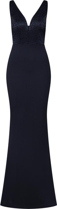 Sukienka WAL G. dopasowana z dekoltem w kształcie litery v