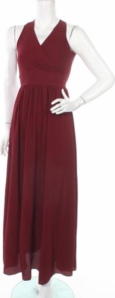 Sukienka WAL G. maxi z dekoltem w kształcie litery v