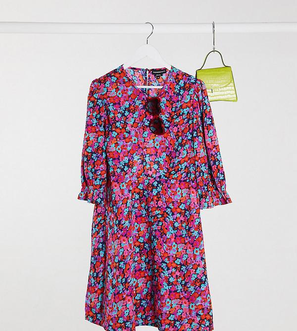 Sukienka Wednesday`s Girl Curve mini z długim rękawem