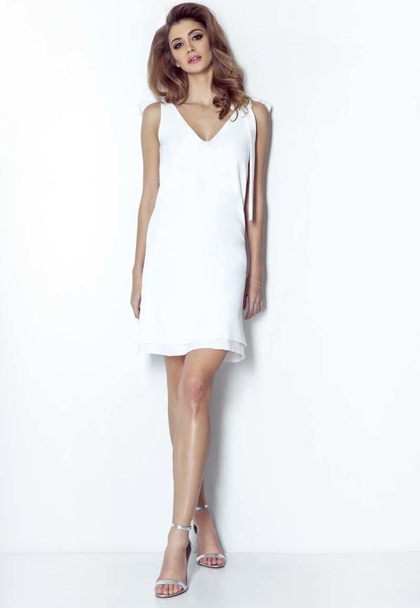 Sukienka Wow Point mini z dekoltem w kształcie litery v dopasowana