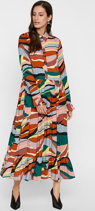 Sukienka Y.A.S z długim rękawem z kołnierzykiem