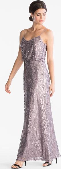 Sukienka YESSICA z okrągłym dekoltem w stylu glamour maxi