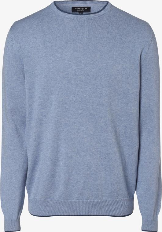 Sweter Andrew James z dzianiny w stylu casual