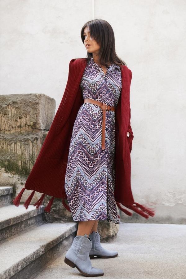 Sweter Be Knit w stylu boho