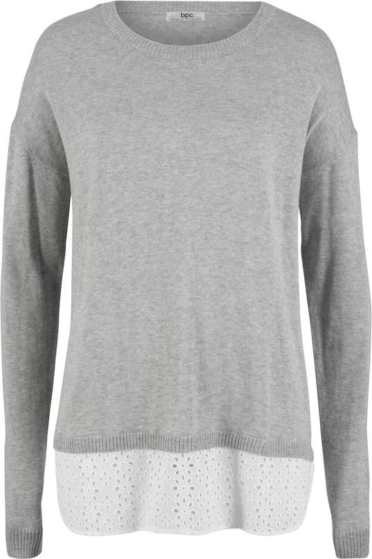 Czarny sweter bonprix bpc bonprix collection Odzież Damskie