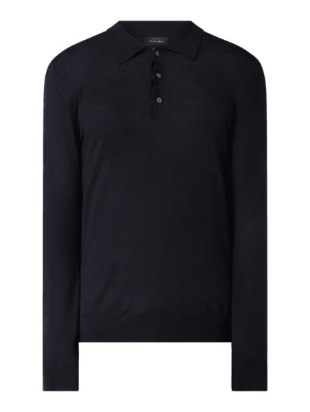 Sweter Christian Berg Men z wełny w stylu casual