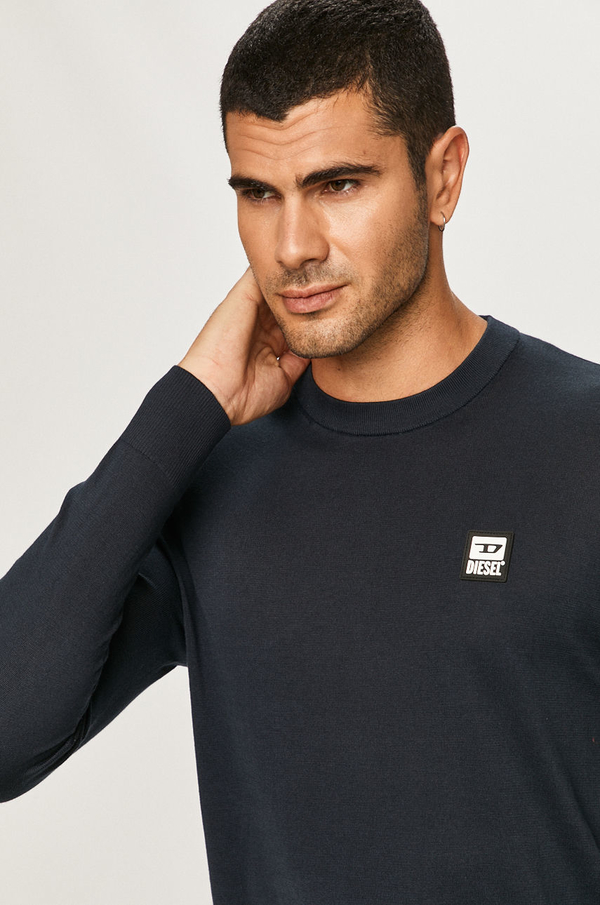 Sweter Diesel z okrągłym dekoltem w stylu casual