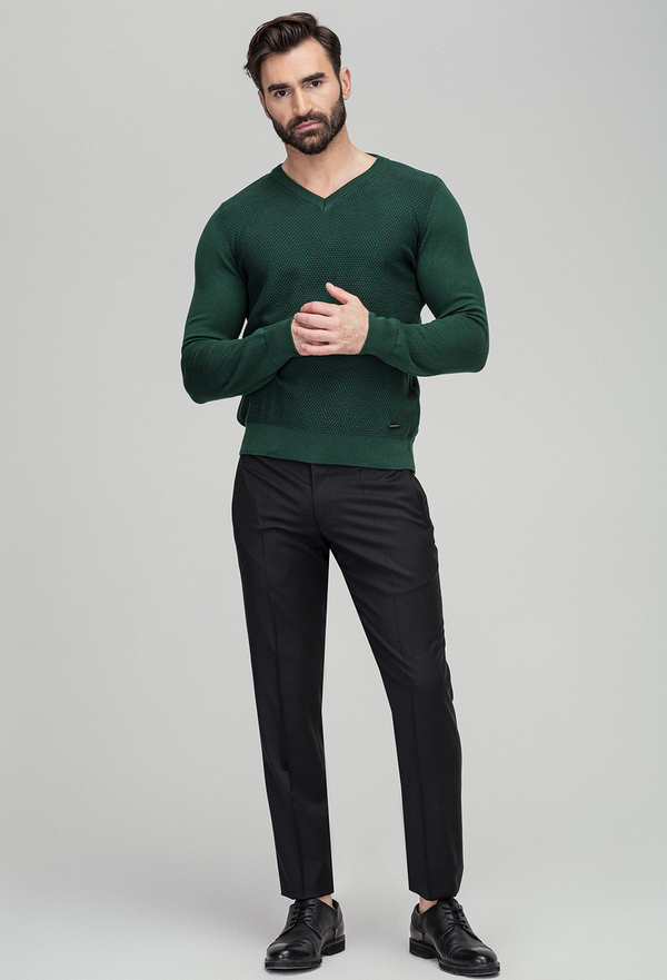 Sweter Giacomo Conti z tkaniny w stylu casual