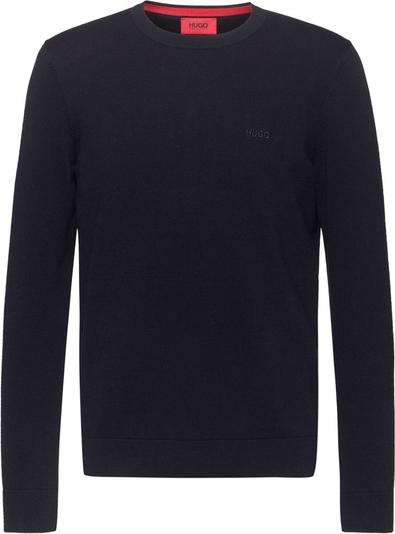 Sweter Hugo Boss w stylu casual z okrągłym dekoltem z wełny