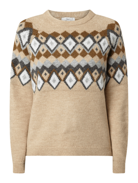 Sweter Jake*s Casual z nadrukiem