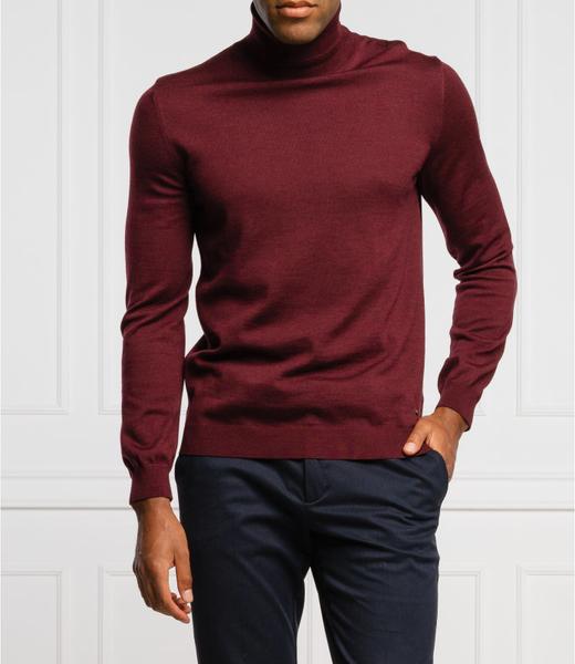 Sweter Joop! z golfem z wełny w stylu casual