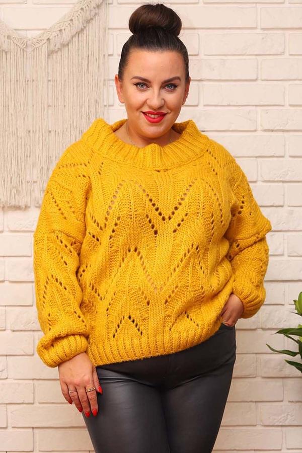 Sweter KARKO w stylu casual