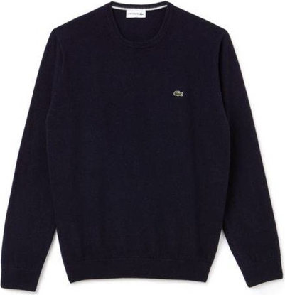 Sweter Lacoste w stylu casual z okrągłym dekoltem z dżerseju