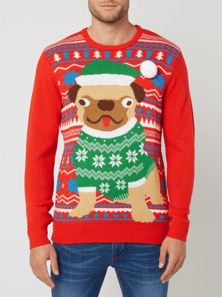 Sweter Montego w młodzieżowym stylu z okrągłym dekoltem