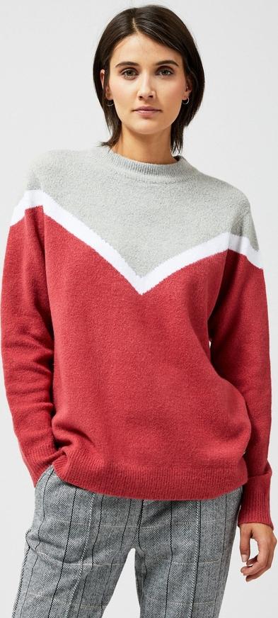 Sweter Moodo w geometryczne wzory w stylu casual
