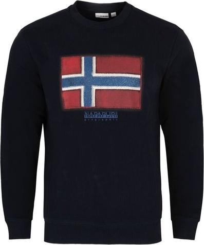Sweter Napapijri w młodzieżowym stylu z okrągłym dekoltem