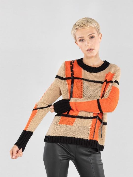 Sweter Ochnik z dzianiny w stylu casual