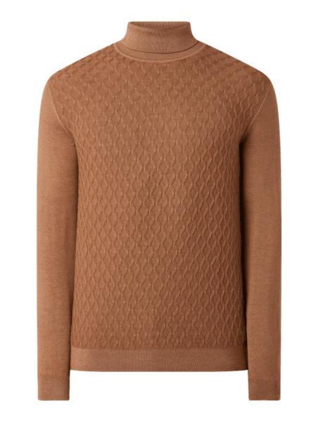 Sweter Olymp Level Five w stylu casual z wełny