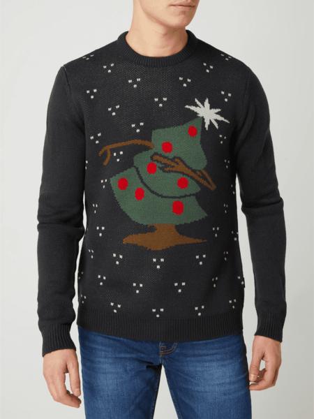 Sweter Only & Sons w bożonarodzeniowy wzór w młodzieżowym stylu