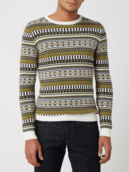 Sweter Redefined Rebel w młodzieżowym stylu z okrągłym dekoltem