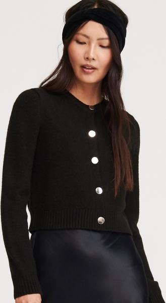 najlepszy Czarny sweter Reserved w stylu casual Odzież Damskie Swetry i bluzy damskie YH ARAVYH-1