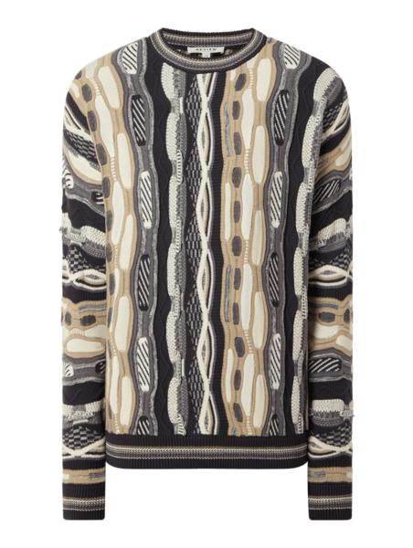 Sweter Review z okrągłym dekoltem w młodzieżowym stylu z bawełny