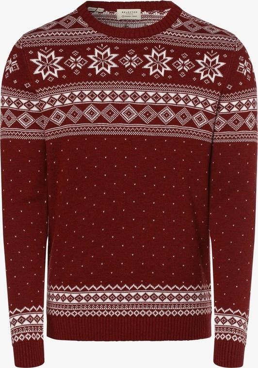 Sweter Selected w młodzieżowym stylu z bawełny