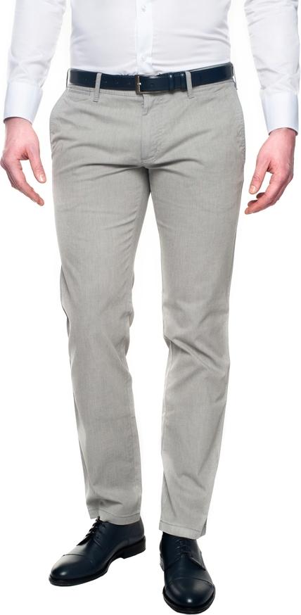 Szare spodnie recman bez wzorów