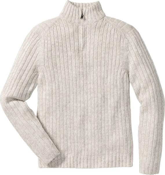 Szary sweter bonprix bpc selection z dzianiny